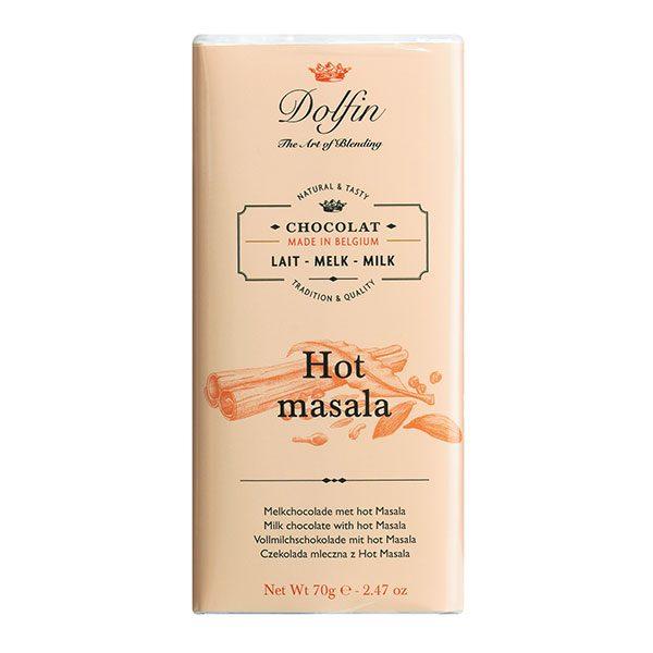 Schokolade Hot Masala Dolfin Belgien 70 g Vinothèque Véronique