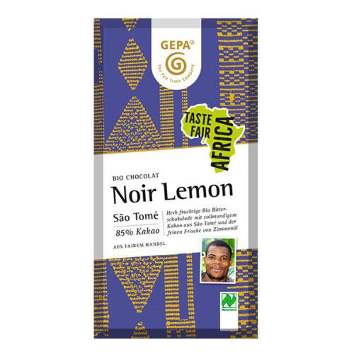 Bitterschokolade Noir Lemon Zitrone