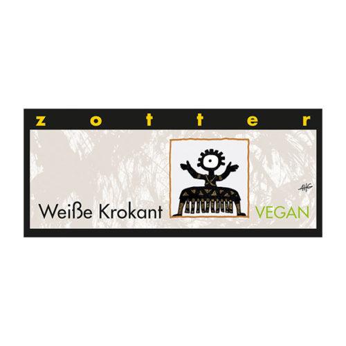 Zotter Schokolade vinotheque veronique Krokant Weiß vegan