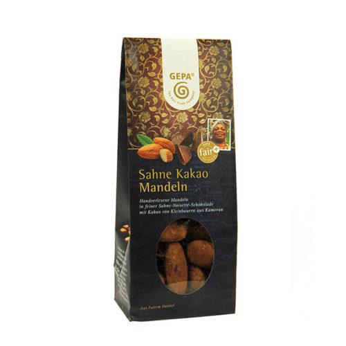 Kakao Mandeln Schokolade gepa Sahne