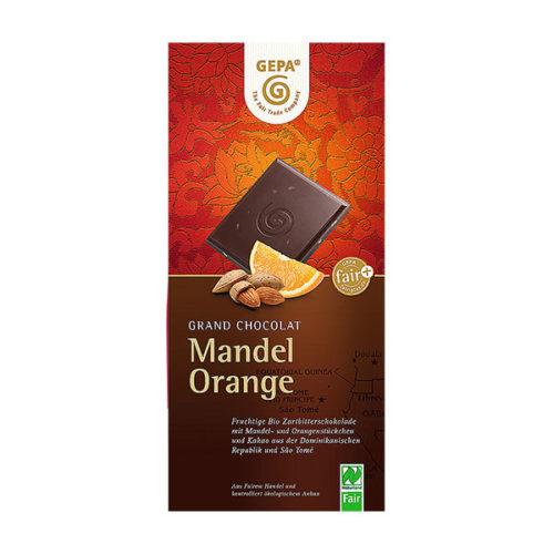 Schokolade Mandel Orange Bitterschoko