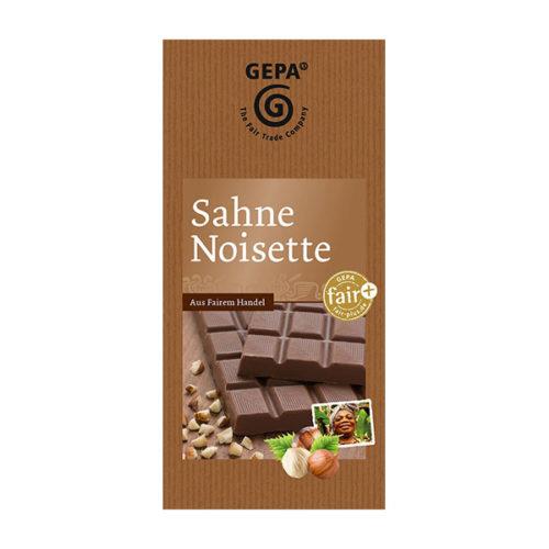 Vollmilch Schokolade fair bio Sahne