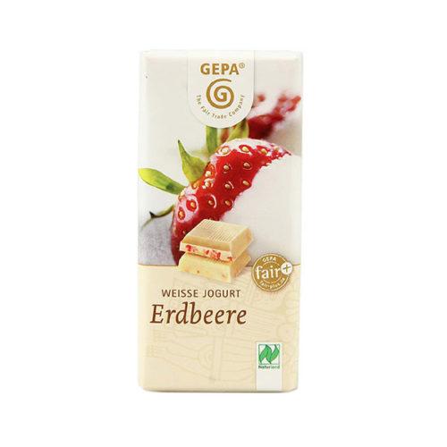Schokolade Weiße Erdbeer gepa vinotheque veronique