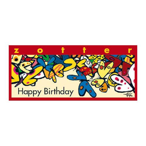 Zotter happy birthday Schokolade