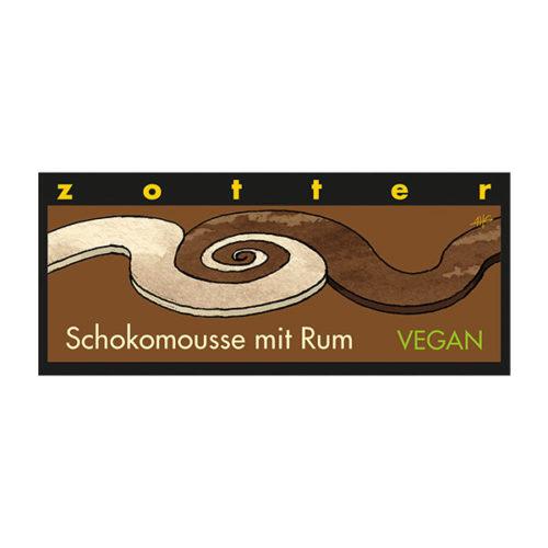 Schokomousse Rum vegan Schokolade weltpartner fair Zotter