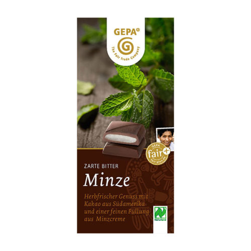 Schokolade MInze gepa after eight