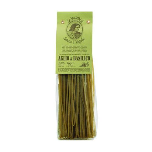 Linguine Nudeln Italien Knoblauch Basilikum