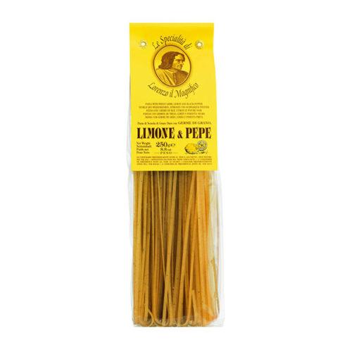 Linguine Nudeln Zitrone Pfeffer
