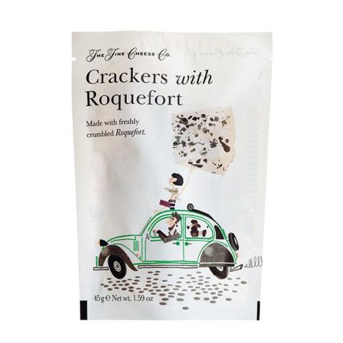 Kräcker Gebäck Käse Roquefort