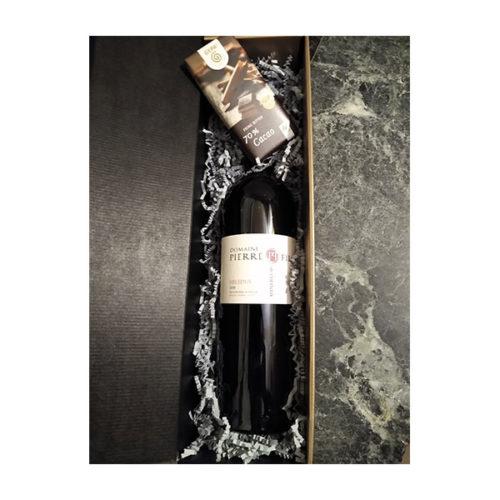präsent Wein Schokolade Frankreich