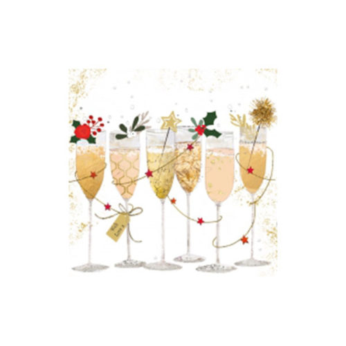 Champagner Servietten Deko Sekt