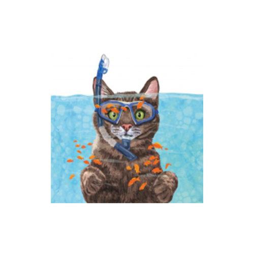 Servietten Katze