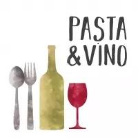 serviette pasta vino wein